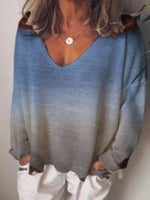 Ombre/tie-Dye Casual Shift Sweater