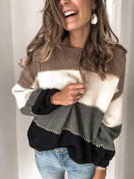 Patchwork Holiday Long Sleeve Sweater
