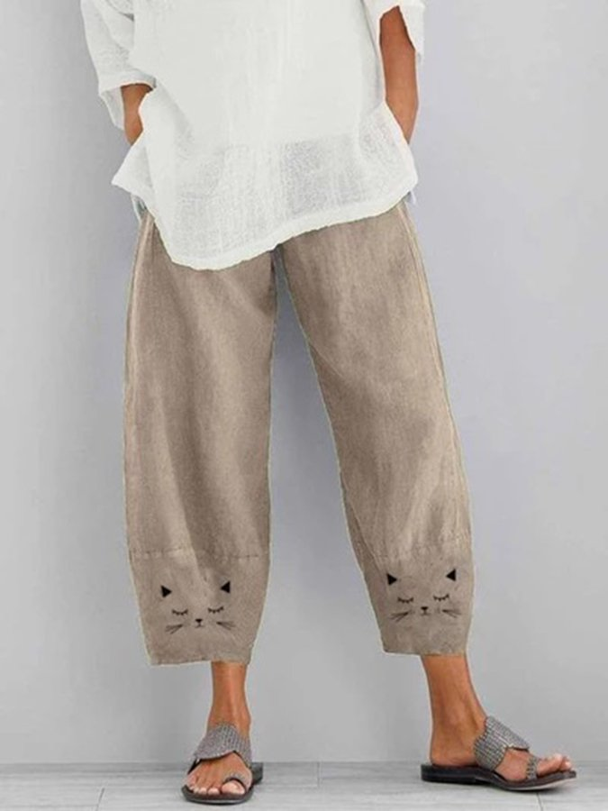 Casual Animal Pants