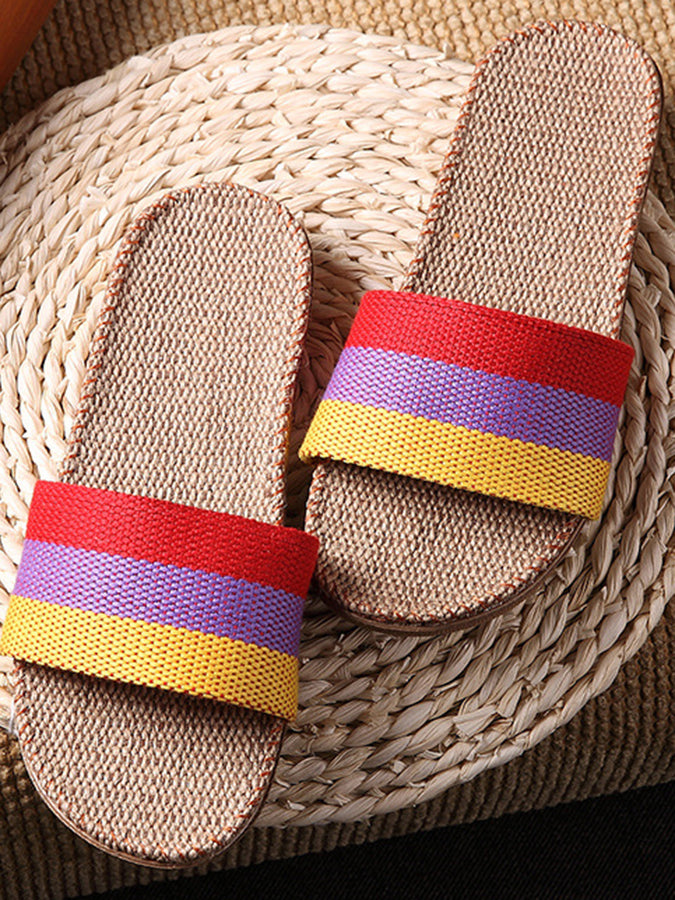 Spring/fall Color Block Eva Slippers
