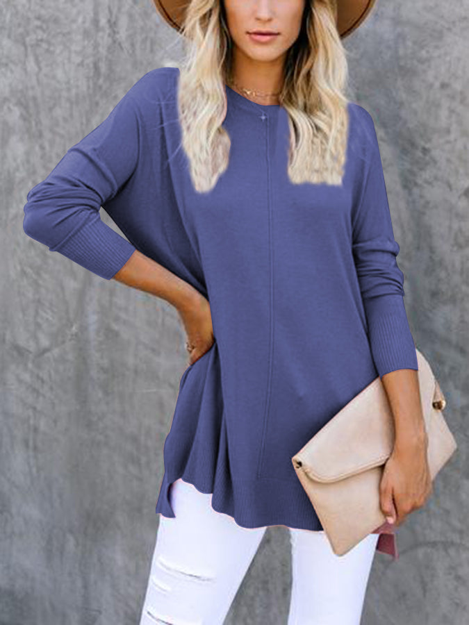 Casual Long Sleeve Shift Sweater