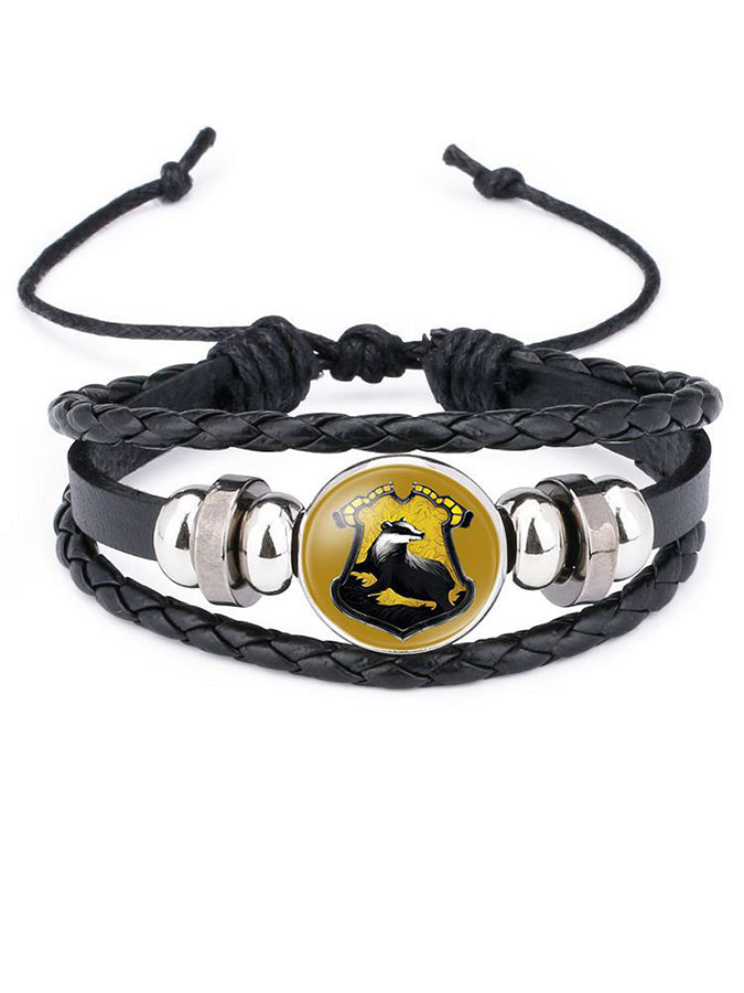 Magic Academy Time Gem Leather Bracelet