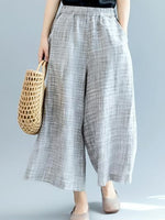 Casual Plaid Pockets Pants