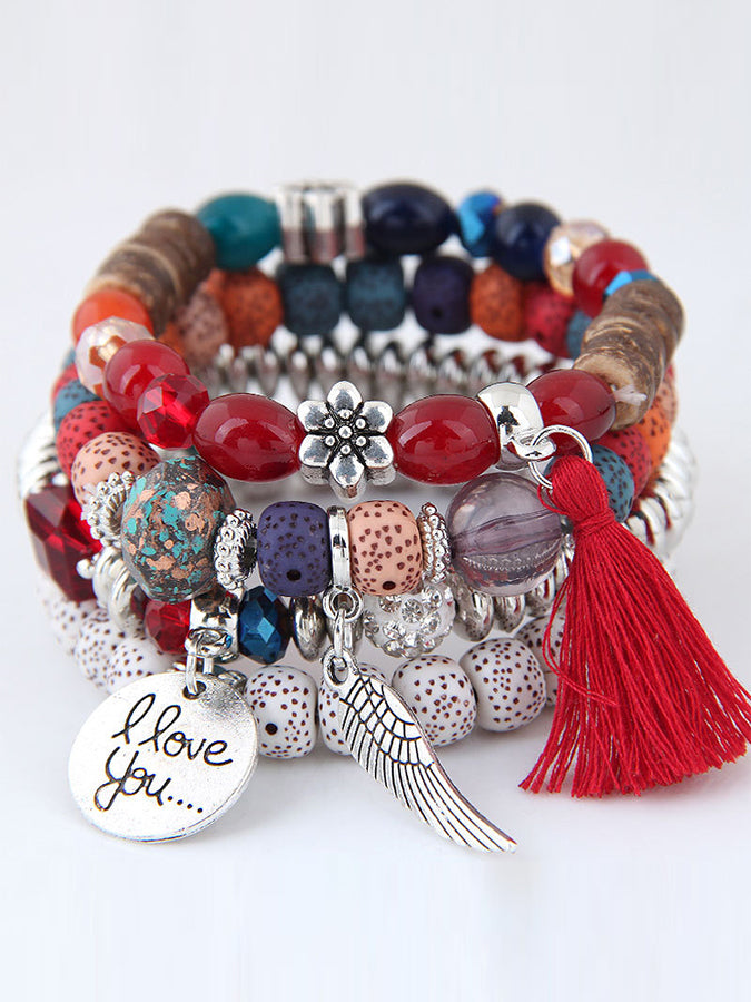 Tassel Beaded Multilayer Temperament Bracelets