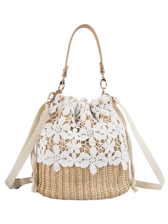 Sweet Straw Shoulder Bags