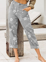 Casual Floral-Print Pants