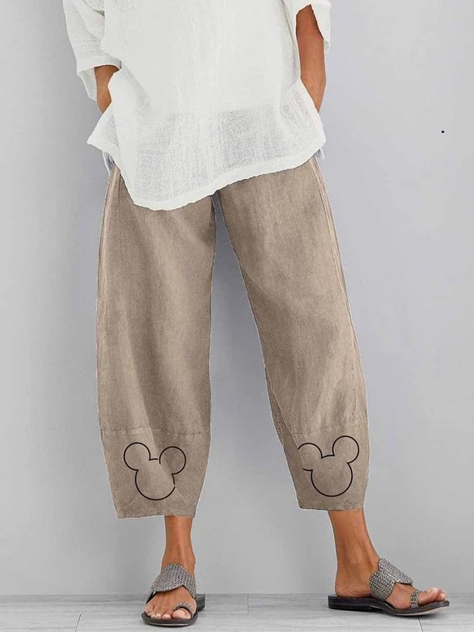 Casual Animal Cotton Pants