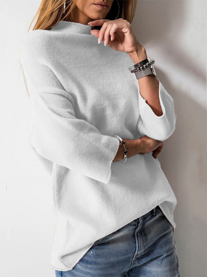 Long Sleeve Knitted Turtleneck Sweater