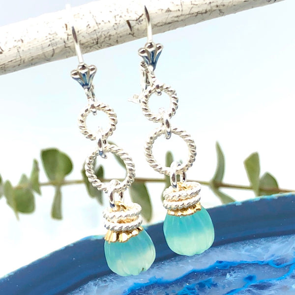 Long Lantern Gemstone Earring