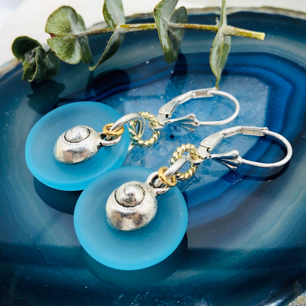 Dome Seaglass Earrings