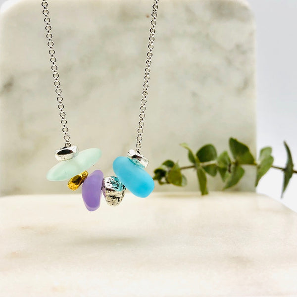 Seaglass Pebble Necklace