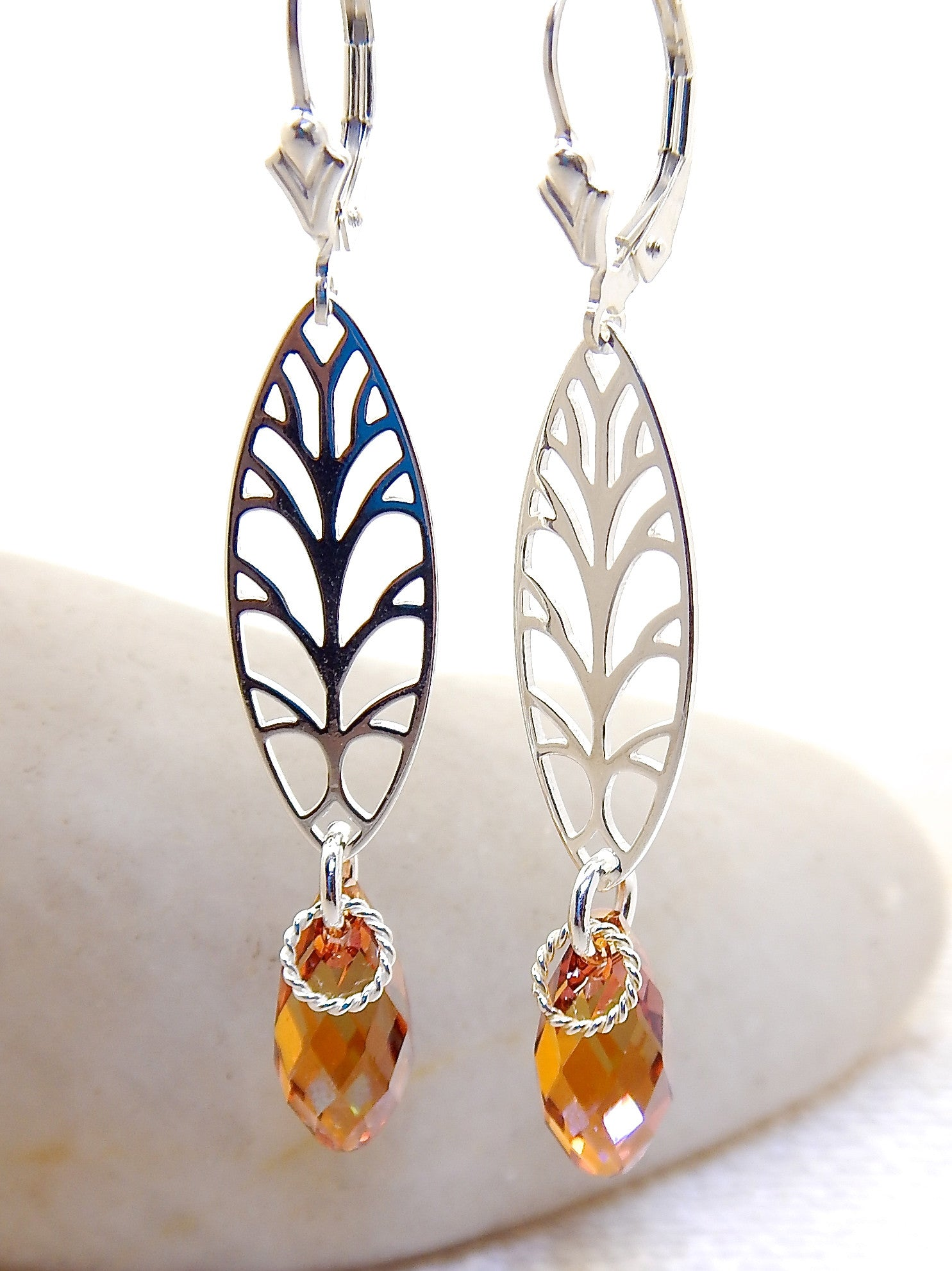 Claire Earrings - Stylized Tree of Life