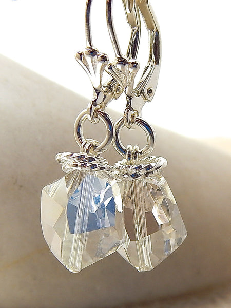 Nora Earrings - Modern Crystal Nugget