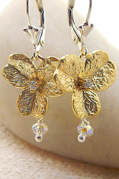 Orchid Earrings - Vintage orchids