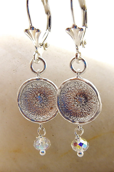 Mini Lily Pad Earring- Lily Pad w/ crystal