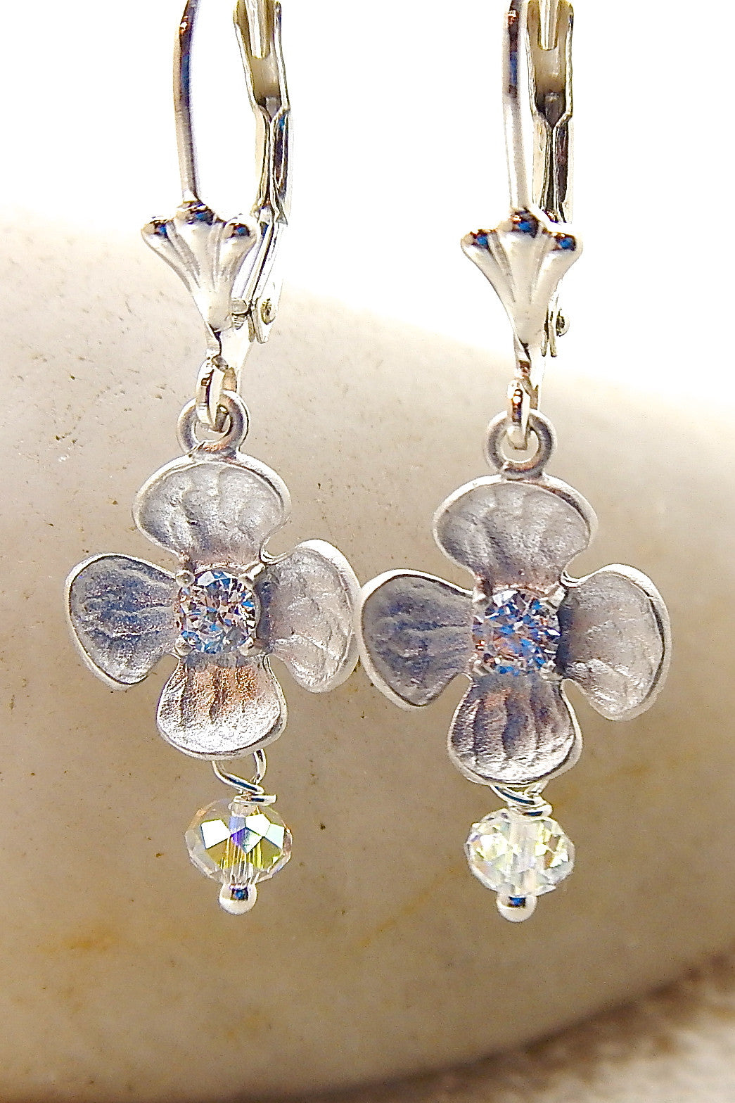 Mini Flower Earring - Mini Blossom w/ crystals