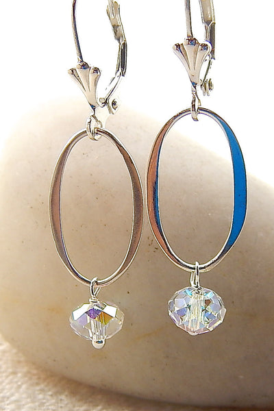 Aria Earrings - Crystal Links