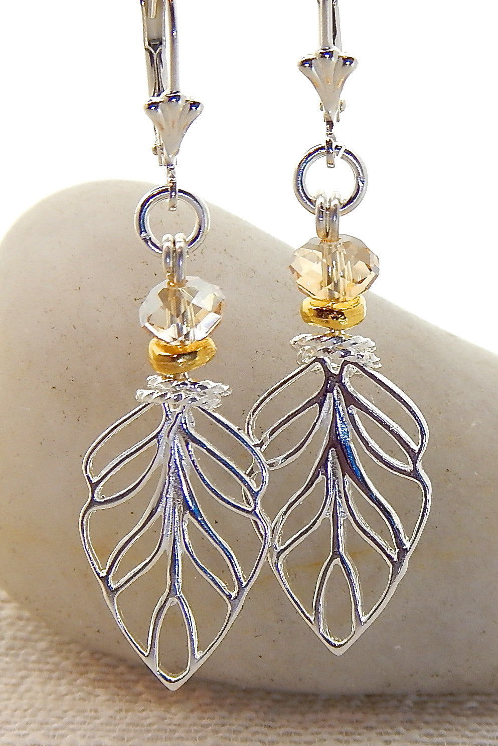 Camila Earrings - Leaf Silhouette