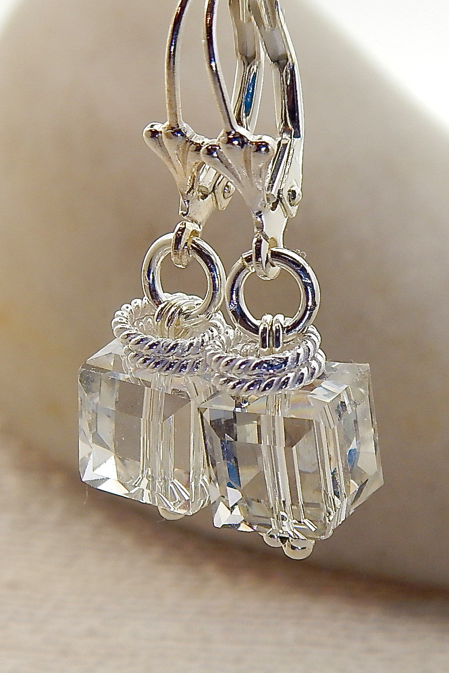 Nicole Earrings - Cubes with a Twist!
