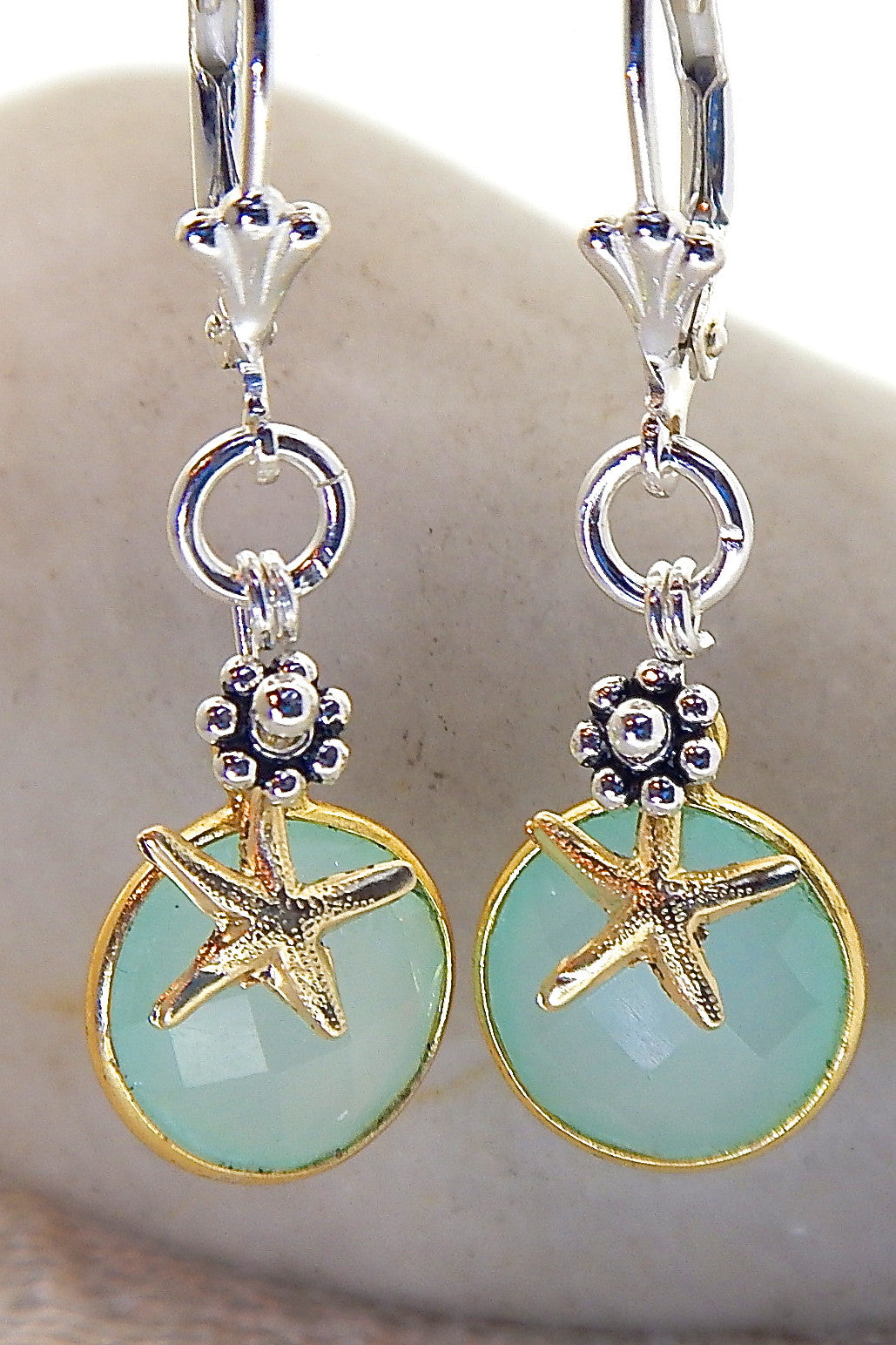 Ocean Earrings - Starfish Accented