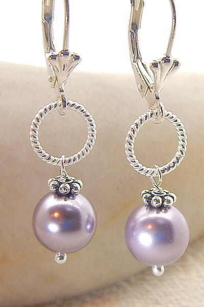 Rose Earrings - Classic Pearls