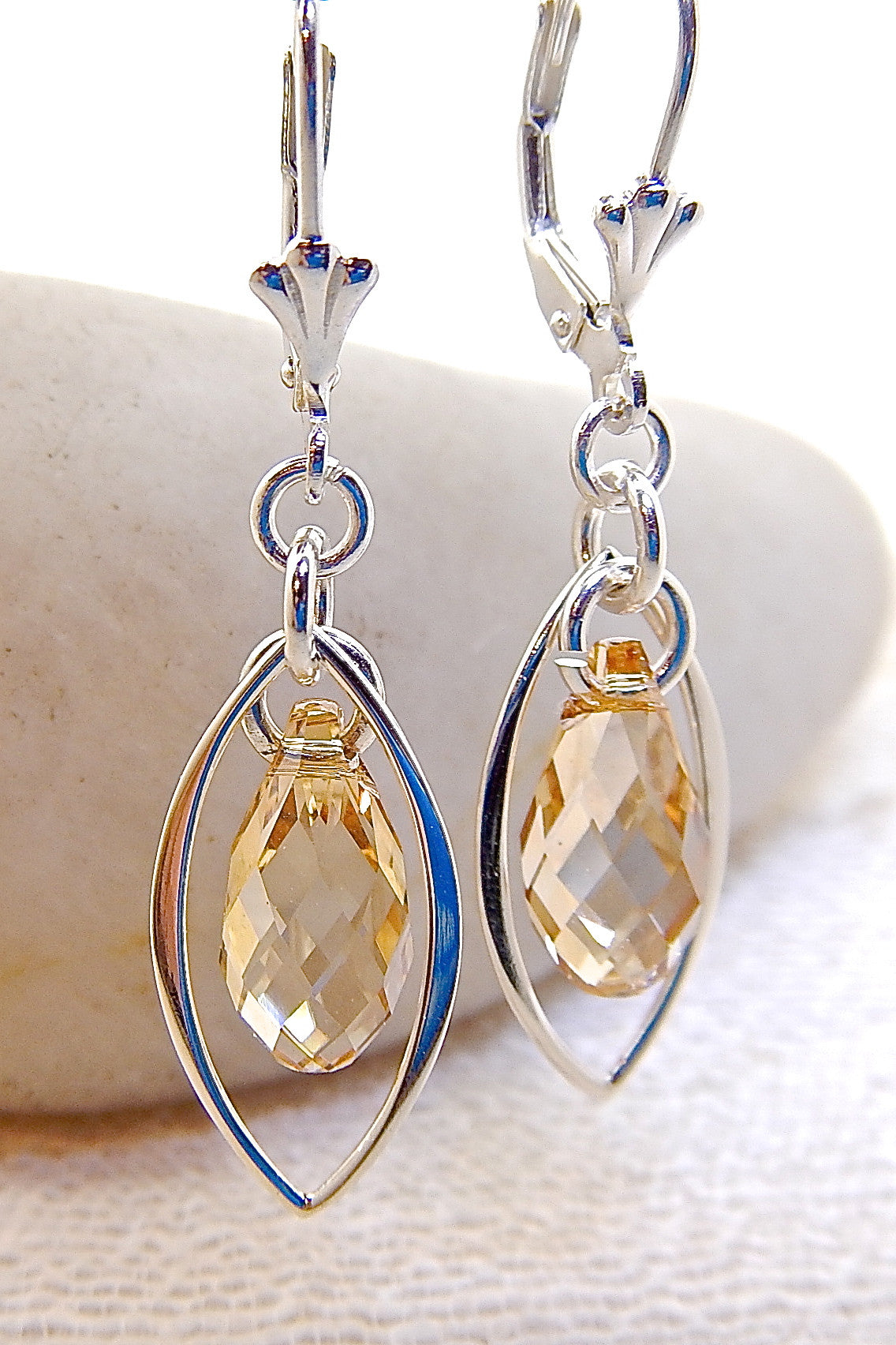 Valerie Earrings - Caged Swarovski
