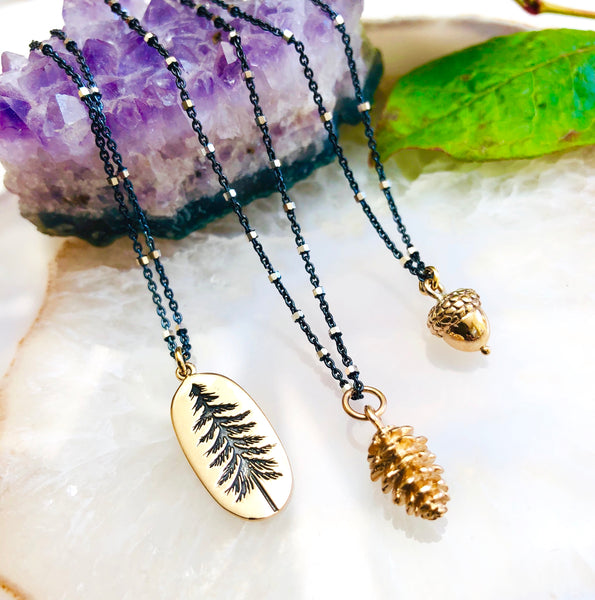 Pinecone Pendant Necklace