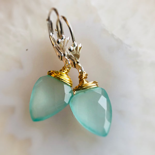 Alexa Gemstone Earrings Chalcedony