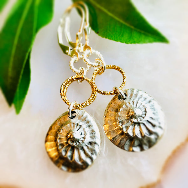 Nautilus Earrings Silver