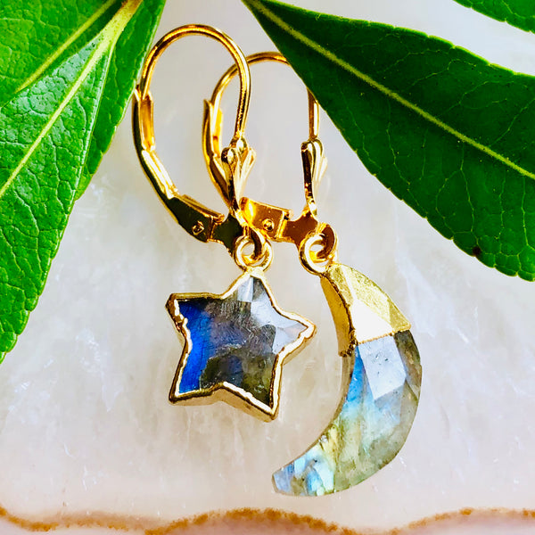 Star Luna Gemstone earrings