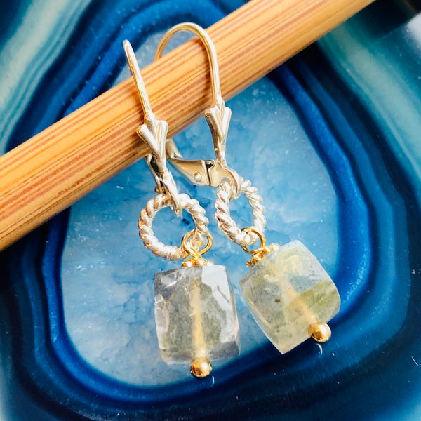 Abigail Gemstone Earrings- Labradorite