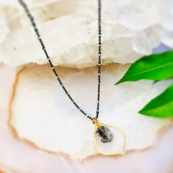 Arabeque Herkimer Pendant Necklace