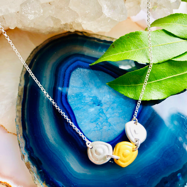 Satin Pebbles Pendant Necklace
