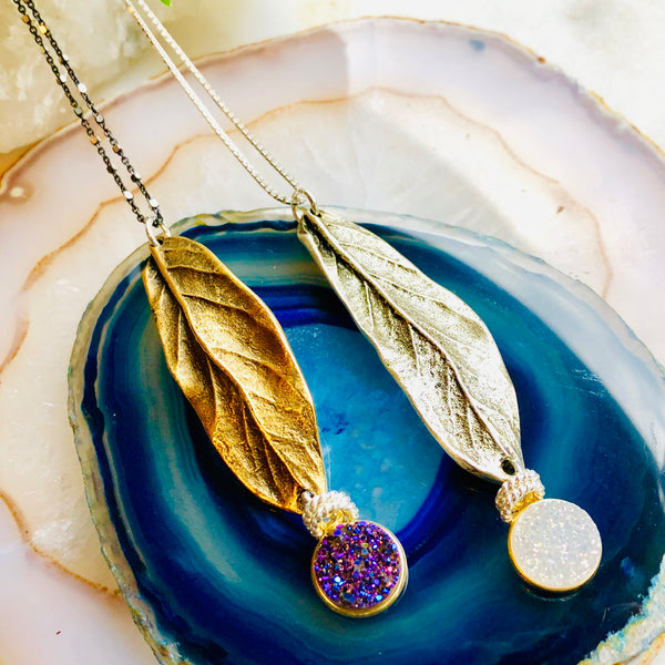 Isobel Long Leaf Pendant