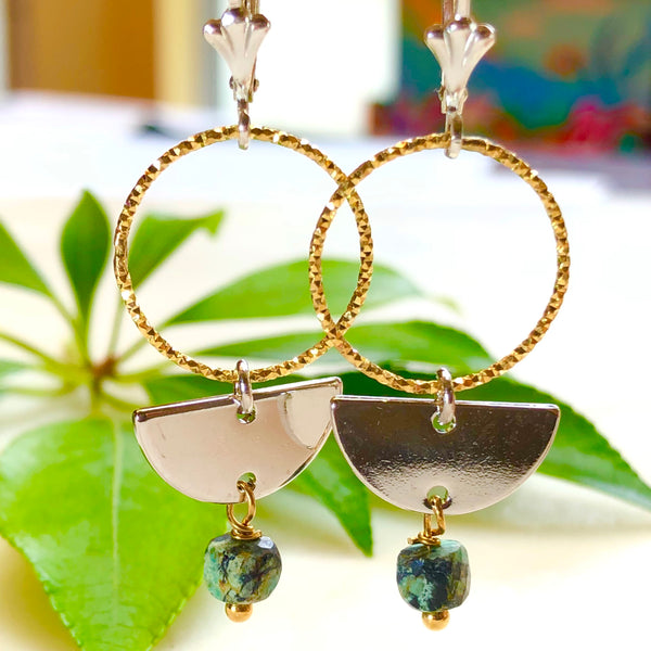 Solaris Moon Earrings