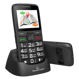 POWERTECH Mobile Phone Sentry GPS, SOS Call, Dual Sim, with flashlight, black