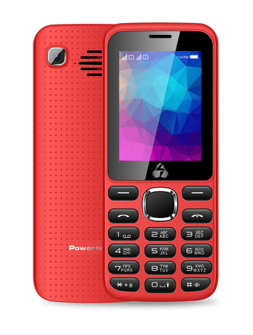 POWERTECH Mobile Phone PTM-08, Dual Sim, Multimedia, 2800mAh, Red