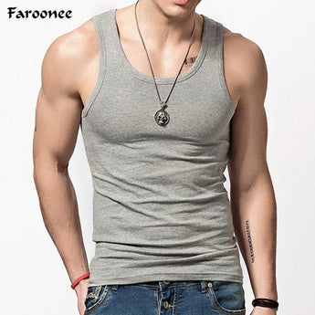 Faroonee Brand Clothing Men's O neck Sleeveless