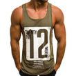 CHAMSGEND Tank Tops Letter Printed Men