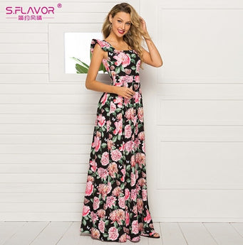 S.FLAVOR national Fashion Flower Printing