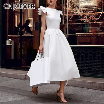 CHICEVER Vintage Dress For Women Sleeveless