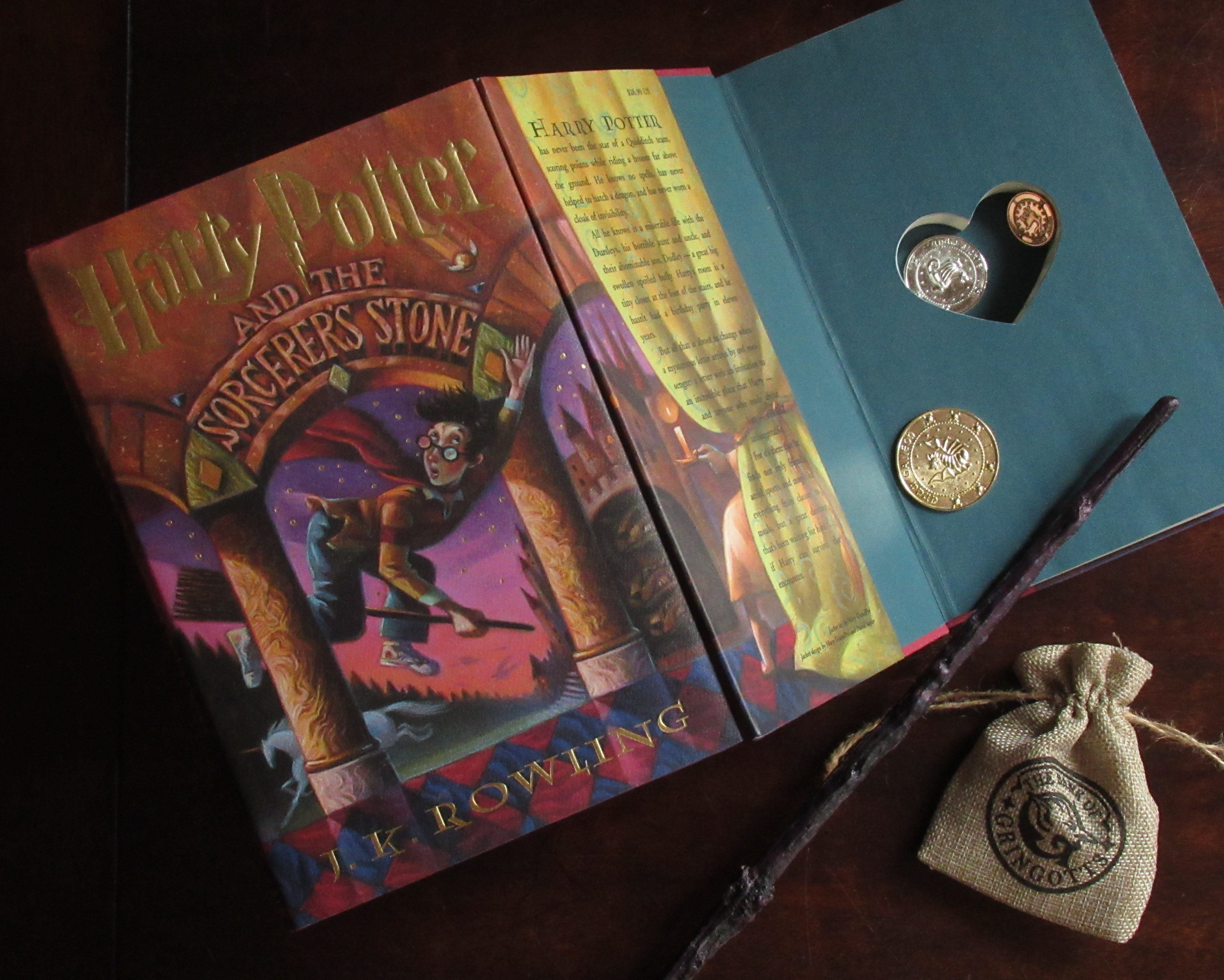 Harry Potter & the Sorcerer's Stone (with Heart cutout)