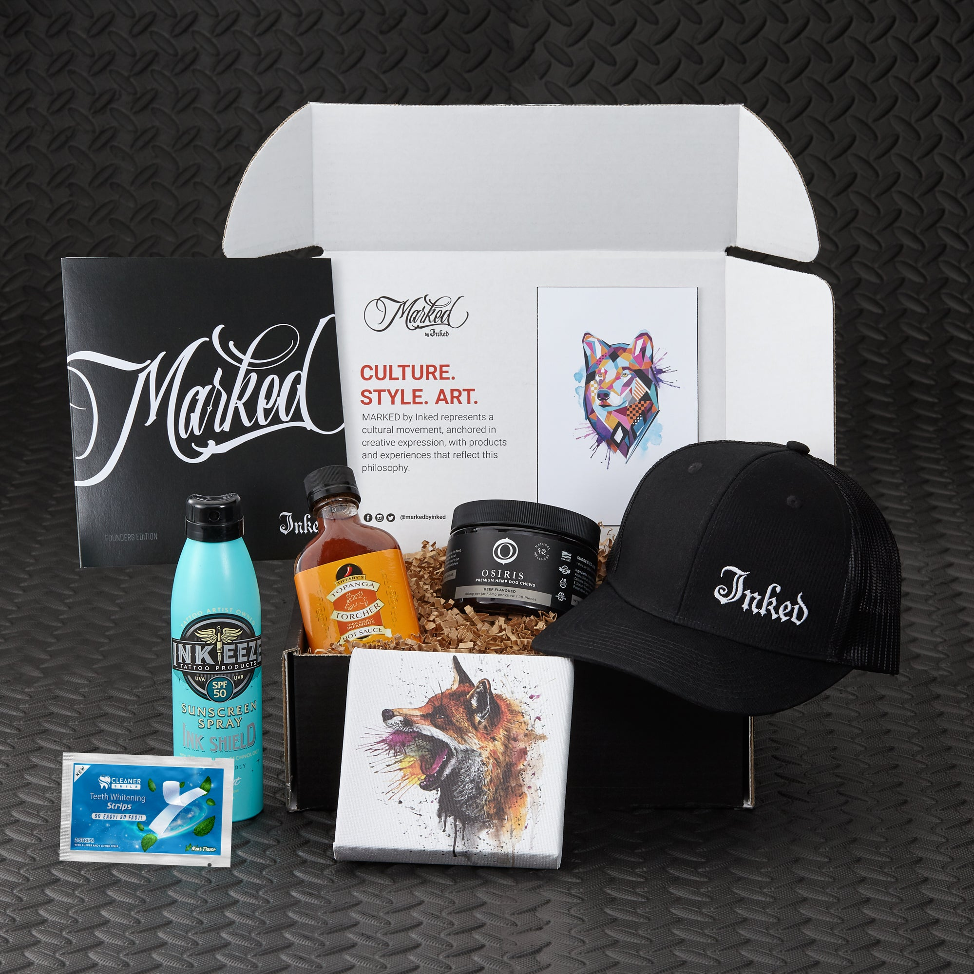 Marked by Inked tattoo culture subscription box. Featuring Mikhail Anderson