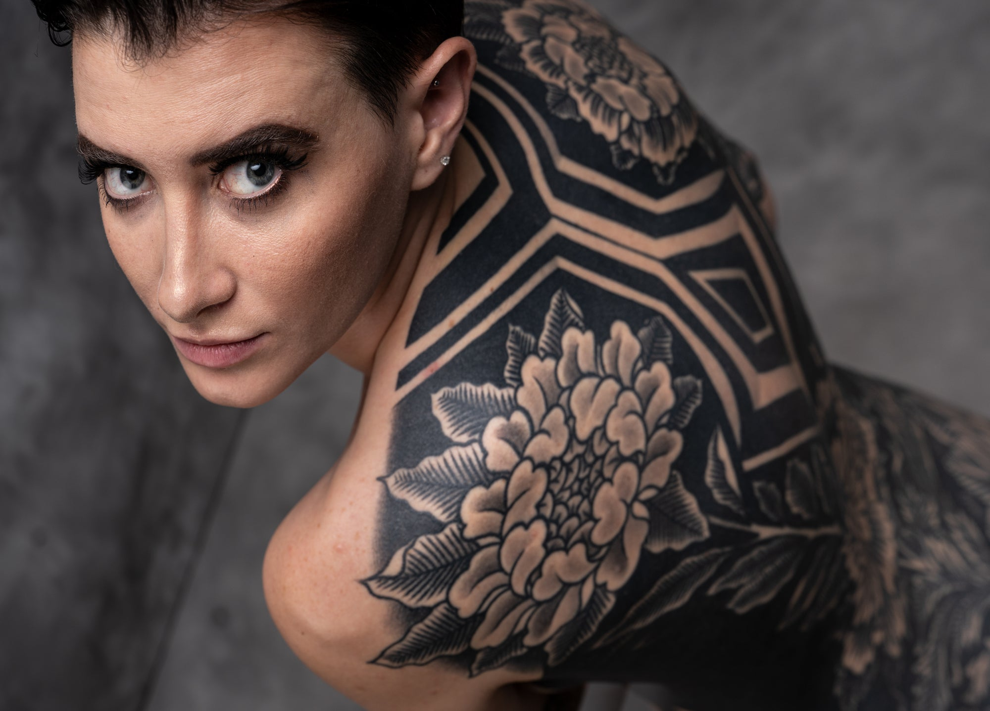Image from All of Me Is Illustrated, image of woman's tatooed back