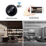 Mini Spy Wireless WiFi Camera Hidden HD 1080P Night Vision Security Recorder AHS