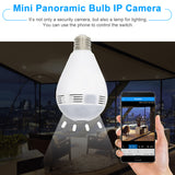 360° Panoramic 1080P Hidden IR Camera E27 Light Bulb Wifi Fish Eye CCTV
