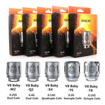 5pcs SMOK² TFV8 Big Baby Beast Coils Replacement Head V8 Baby- Q2 X4 T6 T8 M2