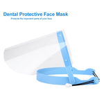 Dental Face Shield Masks Detachable W/ 10 Plastic Clear Protective Film Visors