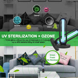 UVC 38W Ozone Germicidal Light Sterilization Lamp Disinfection Remote Control