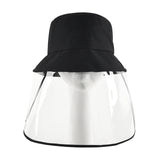 Sun Hat Protective Face Shield Anti Saliva Fisherman Cap With Detachable Mask